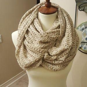 Francesca's infinity scarf in Nude or Tan